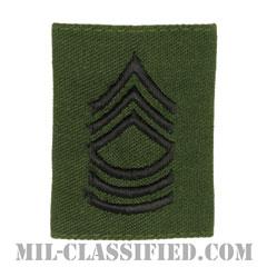 曹長(Master Sergeant (MSG))[サブデュード/ゴアテックスパーカー用スライドオン階級章]の画像