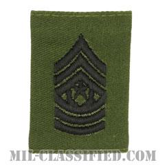 最先任上級曹長(Command Sergeant Major (CSM))[サブデュード/ゴアテックスパーカー用スライドオン階級章]の画像