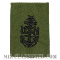 上級上等兵曹(Senior Chief Petty Officer)[サブデュード/ゴアテックスパーカー用スライドオン海軍階級章]の画像