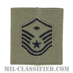 先任曹長(First Sergeant (E-7))[ABU/ゴアテックスパーカー用スライドオン空軍階級章]の画像