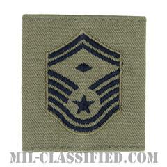 先任上級曹長(First Sergeant (E-8))[ABU/ゴアテックスパーカー用スライドオン空軍階級章]の画像
