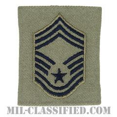 最上級曹長(Chief Master Sergeant)[ABU/ゴアテックスパーカー用スライドオン空軍階級章]の画像