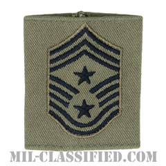 部隊先任最上級曹長(Command Chief Master Sergeant)[ABU/ゴアテックスパーカー用スライドオン空軍階級章]の画像