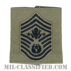 空軍最先任上級曹長(Chief Master Sergeant of the Air Force (CMSAF))[ABU/ゴアテックスパーカー用スライドオン空軍階級章]の画像