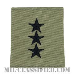 中将(Lieutenant General (LTG))[ABU/ゴアテックスパーカー用スライドオン空軍階級章]の画像