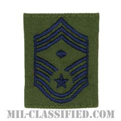 先任最上級曹長(First Sergeant (E-9))[サブデュード/ゴアテックスパーカー用スライドオン空軍階級章]の画像