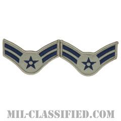 一等空兵(Airman First Class)[ABU/メロウエッジ/空軍階級章/Large(男性用)/パッチ/ペア(2枚1組)]の画像