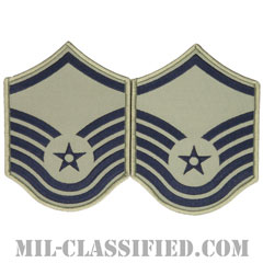 曹長(Master Sergeant)[ABU/メロウエッジ/空軍階級章/Large(男性用)/パッチ/ペア(2枚1組)]の画像