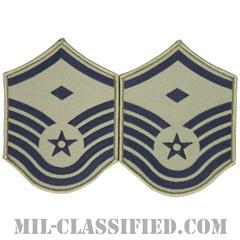 先任曹長(First Sergeant (E-7))[ABU/メロウエッジ/空軍階級章/Large(男性用)/パッチ/ペア(2枚1組)]の画像