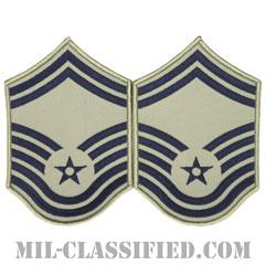 上級曹長(Senior Master Sergeant)[ABU/メロウエッジ/空軍階級章/Large(男性用)/パッチ/ペア(2枚1組)]の画像