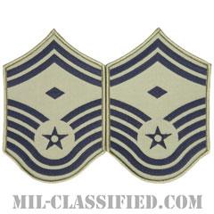 先任上級曹長(First Sergeant (E-8))[ABU/メロウエッジ/空軍階級章/Large(男性用)/パッチ/ペア(2枚1組)]の画像