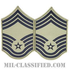 最上級曹長(Chief Master Sergeant)[ABU/メロウエッジ/空軍階級章/Large(男性用)/パッチ/ペア(2枚1組)]の画像