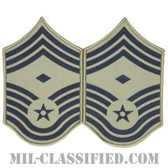 先任最上級曹長(First Sergeant (E-9))[ABU/メロウエッジ/空軍階級章/Large(男性用)/パッチ/ペア(2枚1組)]の画像