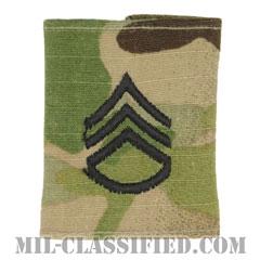 二等軍曹(Staff Sergeant (SSG))[OCP/ゴアテックスパーカー用スライドオン階級章]の画像