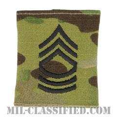 曹長(Master Sergeant (MSG))[OCP/ゴアテックスパーカー用スライドオン階級章]の画像