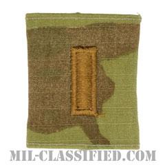 少尉(Second Lieutenant (2LT))[OCP/ゴアテックスパーカー用スライドオン階級章]の画像
