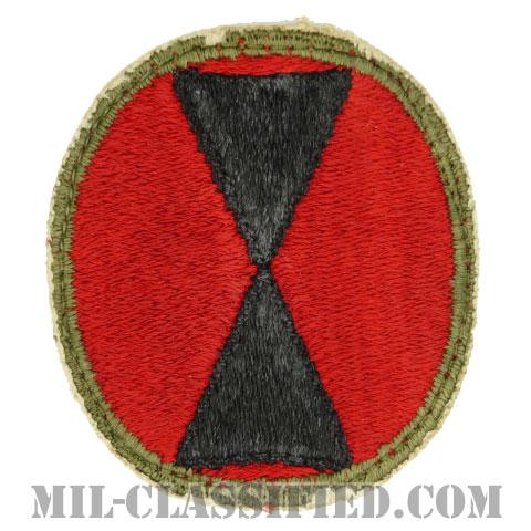 第7歩兵師団(7th Infantry Division)[カラー/カットエッジ/パッチ/中古1点物]の画像