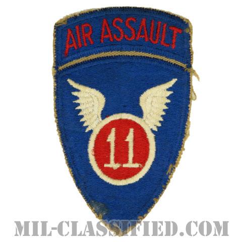第11空中突撃師団(11th Air Assault Division)[カラー/カットエッジ/パッチ/エアアサルトタブ付ワンピースタイプ/中古1点物]の画像
