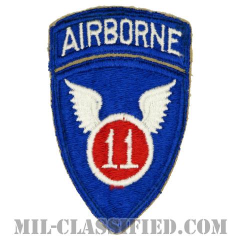 第11空挺師団(11th Airborne Division)[カラー/カットエッジ/パッチ/エアボーンタブ付ワンピースタイプ/中古1点物]の画像