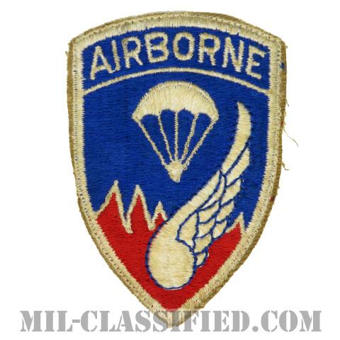 第187空挺歩兵連隊/第187空挺戦闘団(187th Airborne Infantry Regiment)[カラー/カットエッジ/パッチ/エアボーンタブ付ワンピースタイプ/中古1点物]の画像