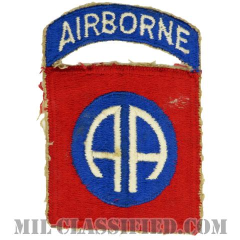 第82空挺師団(82nd Airborne Division)[カラー/カットエッジ/パッチ/エアボーンタブ付ワンピースタイプ/中古1点物]の画像