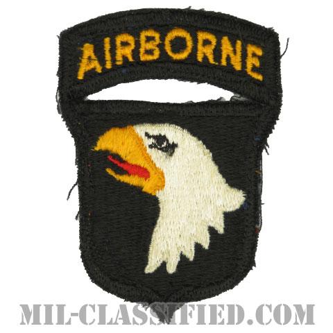 第101空挺師団(101st Airborne Division)[カラー/カットエッジ/パッチ/エアボーンタブ付ワンピースタイプ/中古1点物]の画像