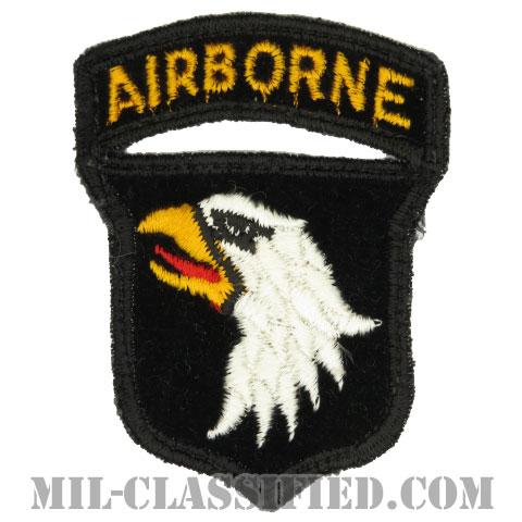 第101空挺師団(101st Airborne Division)[カラー/カットエッジ/パッチ/ベルベット生地/エアボーンタブ付ワンピースタイプ/中古1点物]の画像