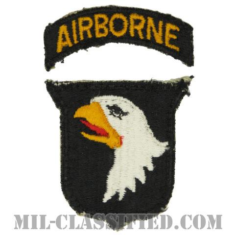 第101空挺師団(101st Airborne Division)[カラー/カットエッジ/パッチ/エアボーンタブ付/中古1点物]の画像