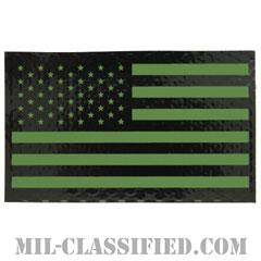 星条旗 IR グリーン(フォワード)(USA Flag (Forward))[ベルクロ付パッチ]の画像