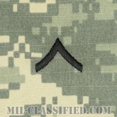 一等兵(Private Second Class (PV2))[UCP(ACU)/階級章/キャップ用縫い付けパッチ]の画像