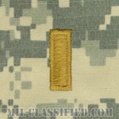 少尉(Second Lieutenant (2LT))[UCP(ACU)/階級章/キャップ用縫い付けパッチ]の画像