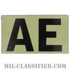 AE(強襲部隊)(Assault Echelon)[IR(赤外線)反射素材/3.5インチ幅/ベルクロ付パッチ]の画像