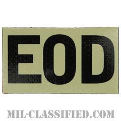 EOD(爆発物処理班)(Explosive Ordnance Disposal)[IR(赤外線)反射素材/3.5インチ幅/ベルクロ付パッチ]の画像