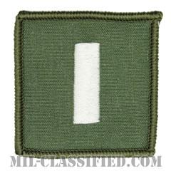 中尉(Lieutenant Junior Grade)[フライトスーツ用セージグリーン/海軍階級章/ペア(2枚1組)]の画像