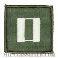 大尉(Lieutenant)[フライトスーツ用セージグリーン/海軍階級章/ペア(2枚1組)]の画像