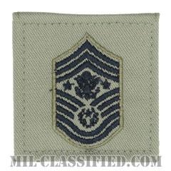 空軍最先任上級曹長(Chief Master Sergeant of the Air Force (CMSAF))[ABU/空軍階級章/ベルクロ付パッチ]の画像
