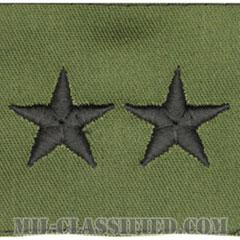 少将(Major General (MG))[サブデュード/階級章/パッチ/ペア(2枚1組)]の画像