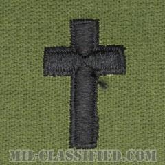 キリスト教従軍牧師科章(Chaplain Corps, Christian Faith)[サブデュード/兵科章/パッチ/ペア(2枚1組)]の画像