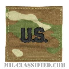 陸軍犯罪捜査司令部用U.S.章(U.S. Letters (CID))[OCP/ベルクロ付パッチ]の画像