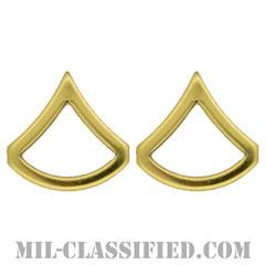 上等兵(Private First Class (PFC))[カラー/階級章/バッジ/ペア(2個1組)]の画像