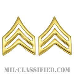 軍曹(Sergeant (SGT))[カラー/階級章/バッジ/ペア(2個1組)]の画像