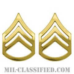 二等軍曹(Staff Sergeant (SSG))[カラー/階級章/バッジ/ペア(2個1組)]の画像