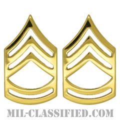 一等軍曹(Sergeant First Class (SFC))[カラー/階級章/バッジ/ペア(2個1組)]の画像
