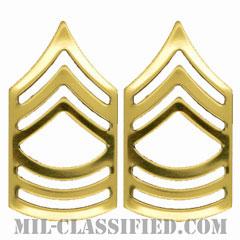曹長(Master Sergeant (MSG))[カラー/階級章/バッジ/ペア(2個1組)]の画像