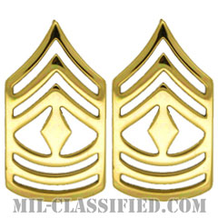 先任曹長(First Sergeant (1SG))[カラー/階級章/バッジ/ペア(2個1組)]の画像