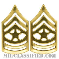 上級曹長(Sergeant Major (SGM))[カラー/階級章/バッジ/ペア(2個1組)]の画像