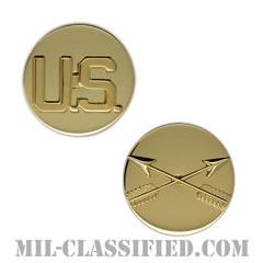 特殊部隊章(Special Forces Branch Insignia and U.S. Letters)[カラー/兵科章U.S.章セット(下士官用)/バッジ/ペア(2個1組)]の画像