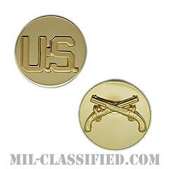 憲兵科章(Military Police Corps Branch and U.S. Letters)[カラー/兵科章U.S.章セット(下士官用)/バッジ/ペア(2個1組)]の画像