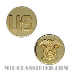 需品科章(Quartermaster Corps Branch and U.S. Letters)[カラー/兵科章U.S.章セット(下士官用)/バッジ/ペア(2個1組)]の画像