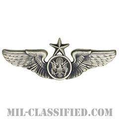 航空機搭乗員章 (下士官用シニア・エアクルー)(Air Force Enlisted Senior Aircrew Badge)[カラー/燻し銀/バッジ]の画像